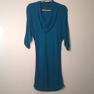 Oversized Neck Kenneth Cole Blue Sweater Dress XS
